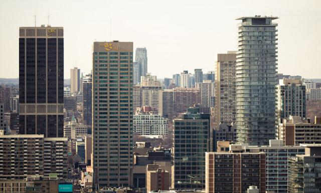 Toronto Skyline From Bloor & Yonge (Photo by tomms)