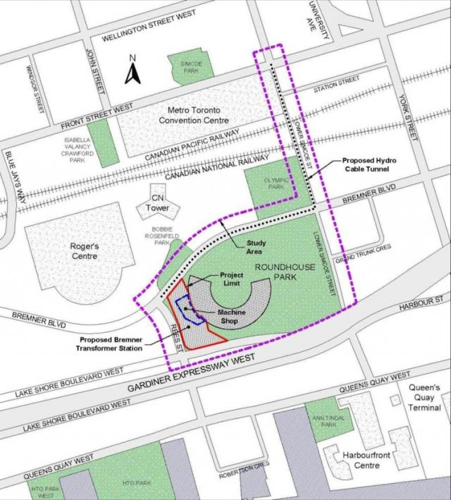 The map of the future site of Bremner Station from the EA Study notice