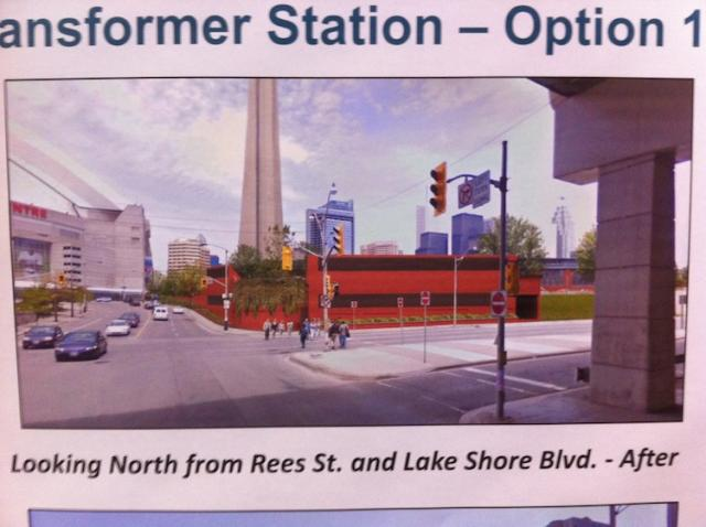 A Rendering of option one of the final look of the Bremner Station