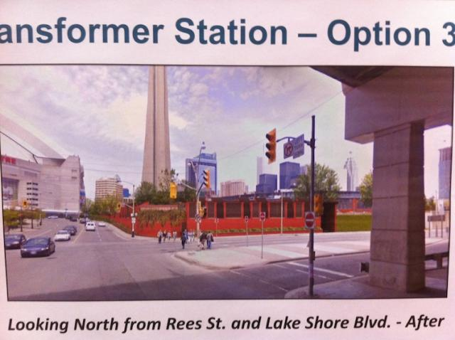 A Rendering of option three of the final look of the Bremner Station