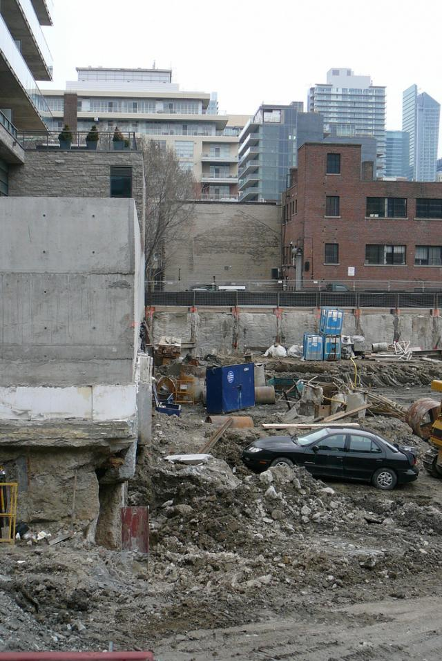 A photo of the excavation site for Fashion House