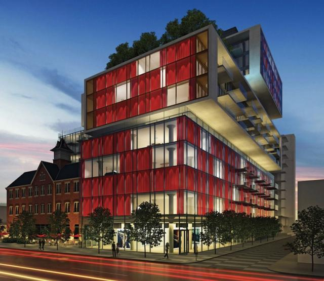 This is the initial rendering of the 14 floor version of Fashion House Condo