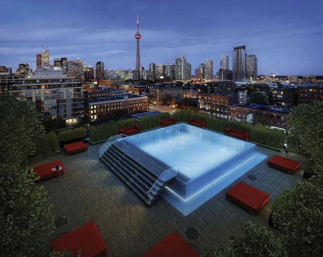 This is a rendering of the Fashion House roof otp pool.