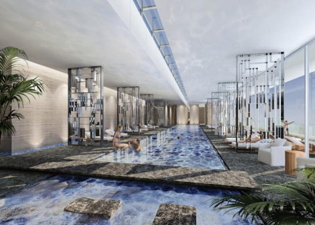 This rendering shows future plan for Four Seasons Hotel and Residences Pool