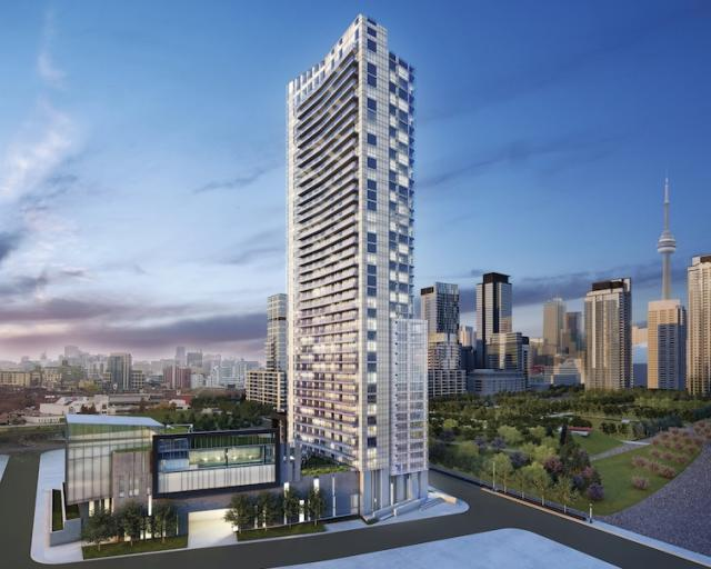 This is a rendering of Concord Adex's CityPlace project called Quartz