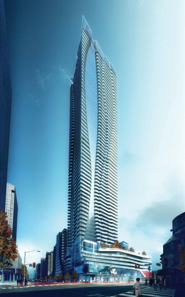 This is the current official rendering of Great Gulf Homes developed One Bloor.