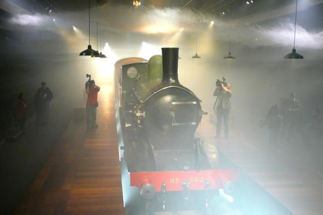 Vicky the Vintage Steam Engine in Roundhouse Theatre 2011.05.04 (Photo by Craig