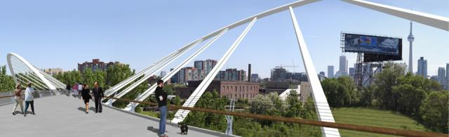 Fort York Pedestrian and Cycle Bridge Proposal by Montgomery Sisam Architects an