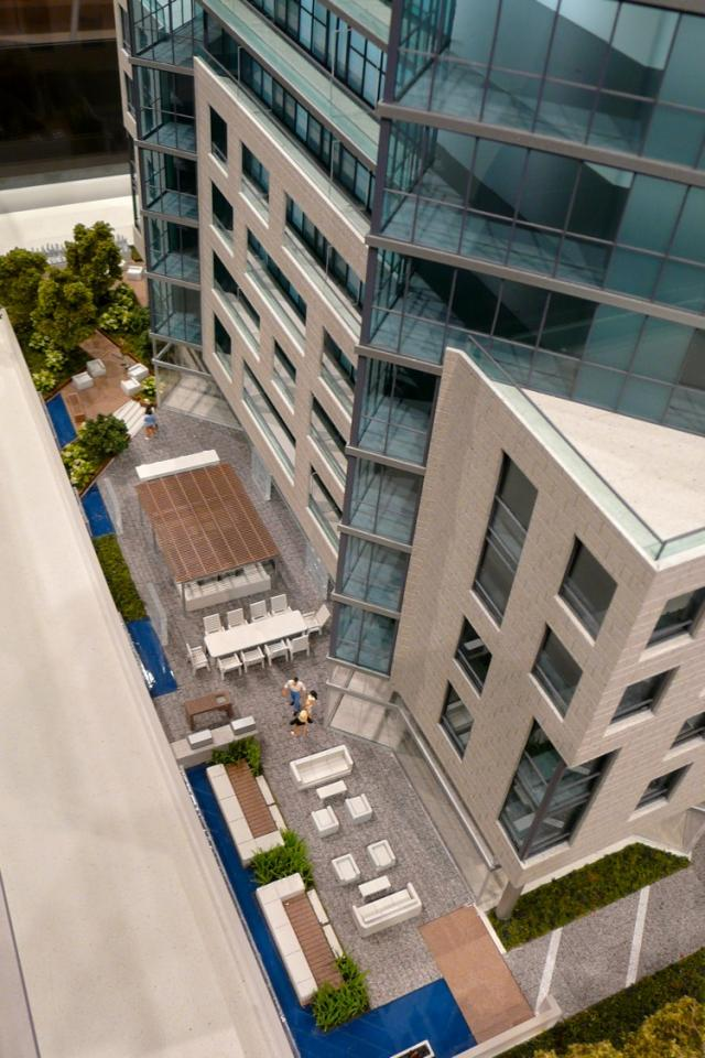 East terrace at Chaz on Charles by 45 Charles Ltd and Edenshaw Homes, image by C