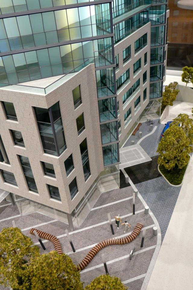 West entrance to Chaz on Charles by Edenshaw Homes and 45 Charles Ltd, image by