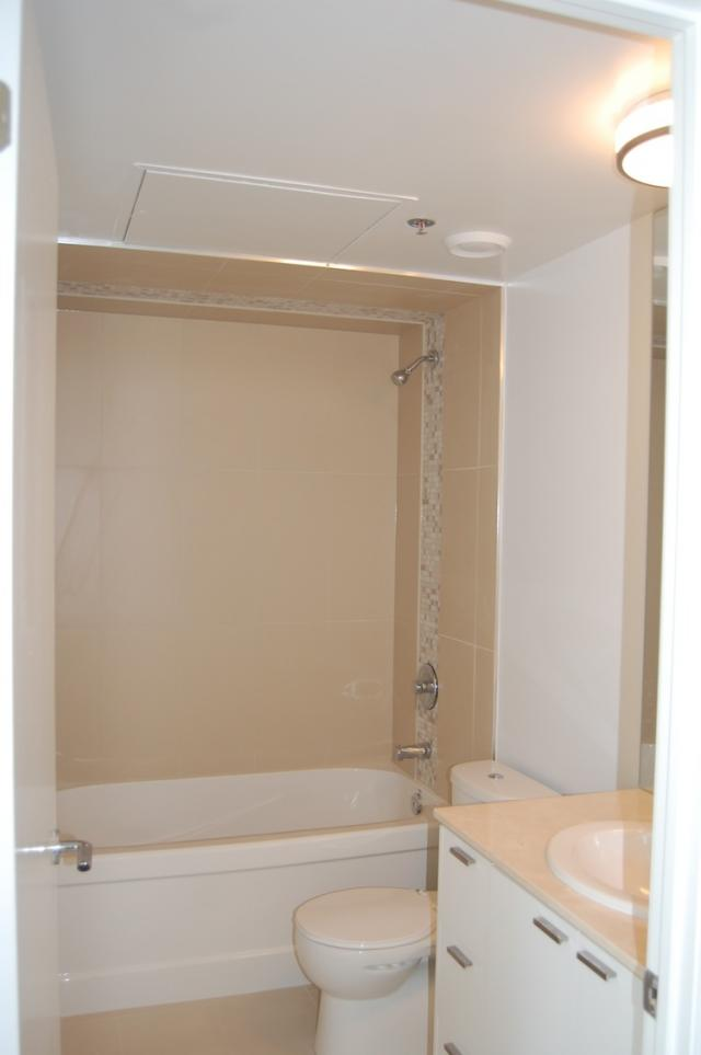 Bathroom under construction in a unit at the M5V Condominiums, image courtesy of