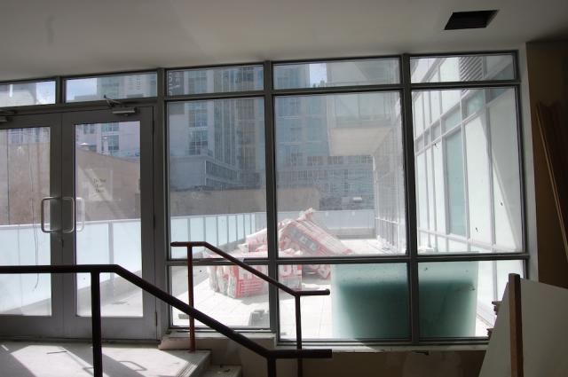 Terrace off the Entertainment Room at the M5V Condominiums, image courtesy of Li