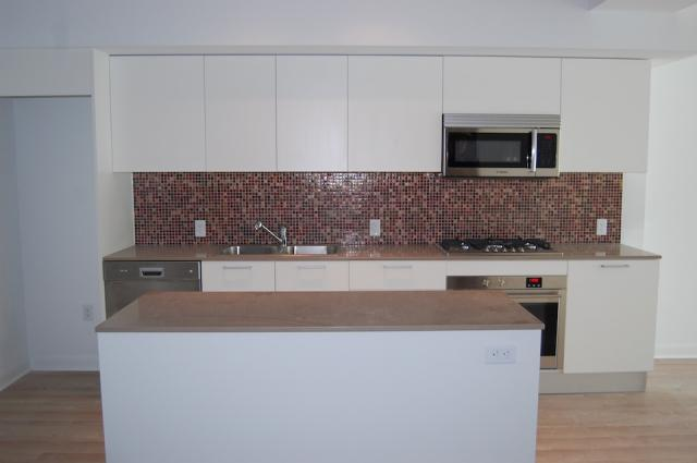 Kitchen under construction in a unit at the M5V Condominiums, image courtesy of