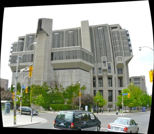 The John P. Robarts Research Library at the U of T, by Mathers and Haldenby, ima
