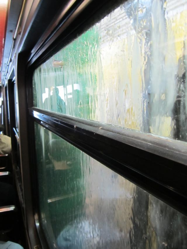 A CLRV streetcar going through the Roncesvalles carwash, image by Adam Hawkins