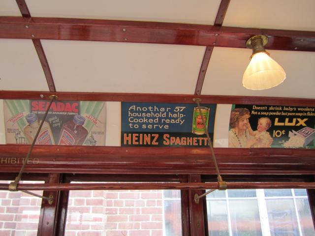 Old ads on a Peter Witt streetcar, image by Adam Hawkins
