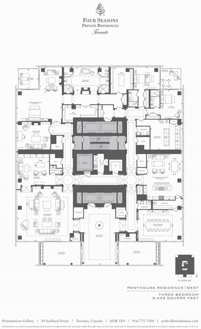 Four Seasons Toronto penthouse floorplan