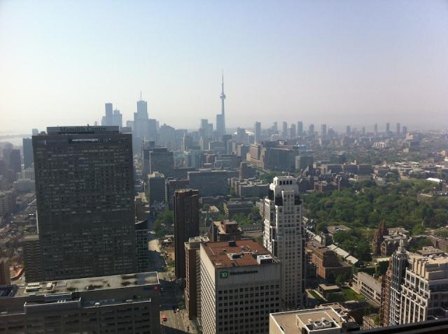 View of Toronto from Four Seasons, looking South from the 47th floor