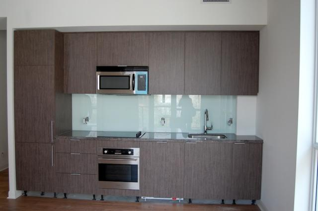 Kitchen in a suite at Victory Condos, image courtesy of BLVD and Lifetime Develo