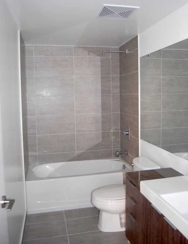 Bathroom in a suite at Victory Condos, image courtesy of BLVD and Lifetime Devel