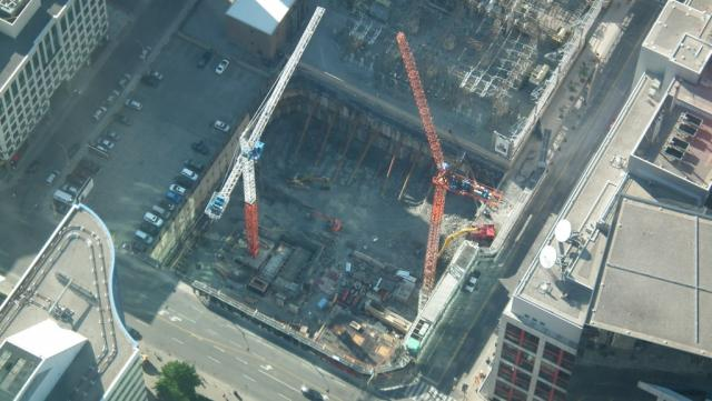 Bird's Eye View of 300 Front Street West site; CBC Headquarters on the Right (Im