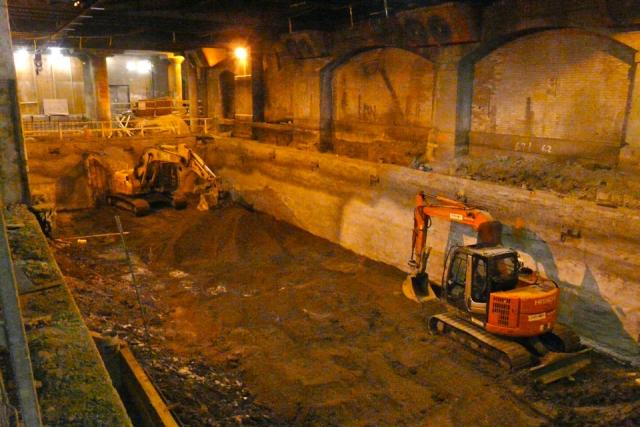 Excavation of the new GO Transit concourse at Union Station, image by Craig Whit