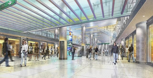 Rendering of new retail concourse (PATH) at Union Station, Toronto