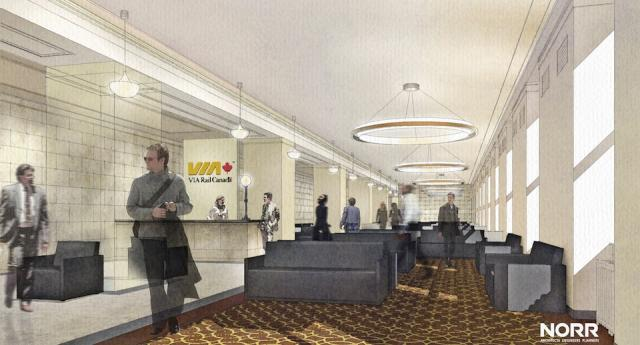Rendering of the new VIA Rail Panorama Lounge, image supplied by NORR Architects