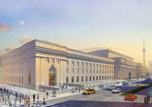 Rendering of renovated Union Station in Toronto