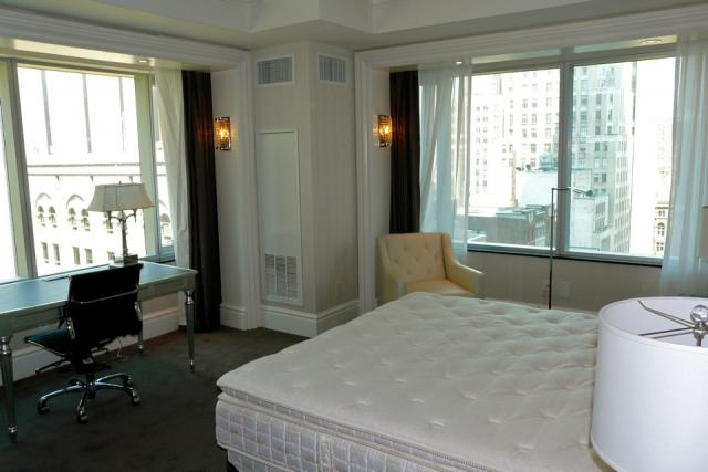 Northwest corner hotel room on the 12th floor of the Trump International Hotel a