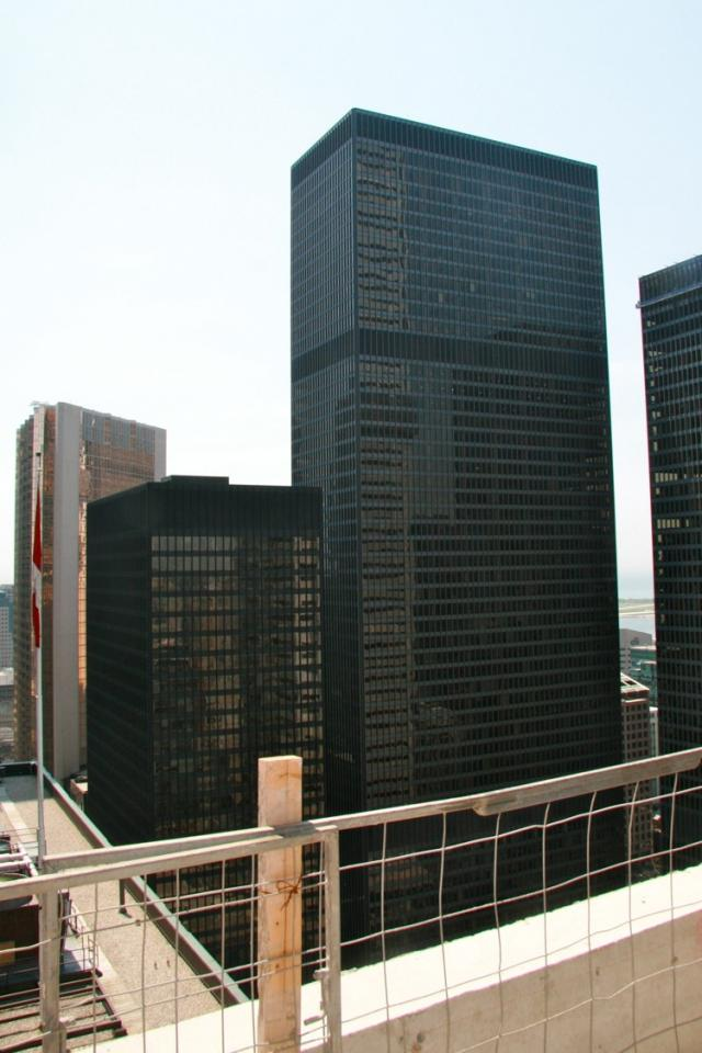 30th storey restaurant balcony at the Trump International Hotel and Tower Toront