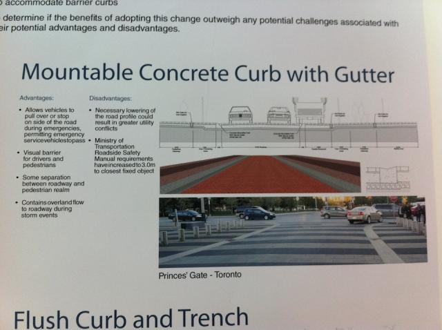 John Street revitalization open house, Mountable concrete curb with gutter desig