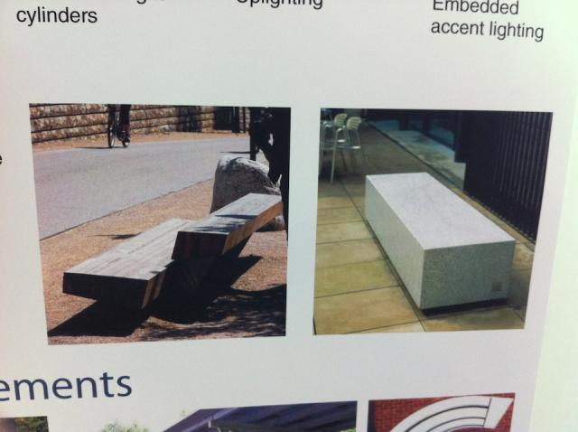 John Street revitalization open house, Public seating design concepts.