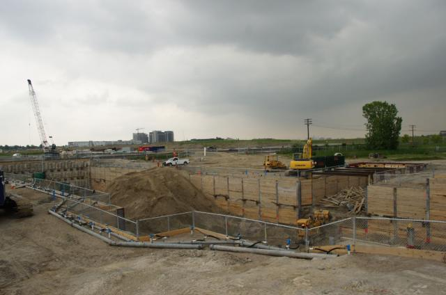 The site facing east with Metro Place Condos in the background, image by Nigel T