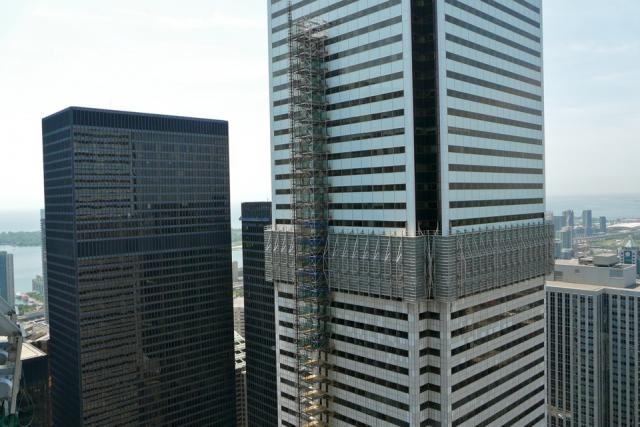 View southwest from the 46th storey of the Trump International Hotel and Tower,