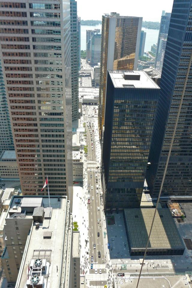 View down Bay Street from the 46th storey of the Trump International Hotel and T