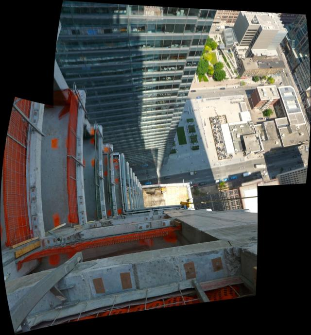 View down from the 46th storey of the Trump International Hotel and Tower, image