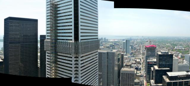 Western panorama from the 46th storey of the Trump International Hotel and Tower