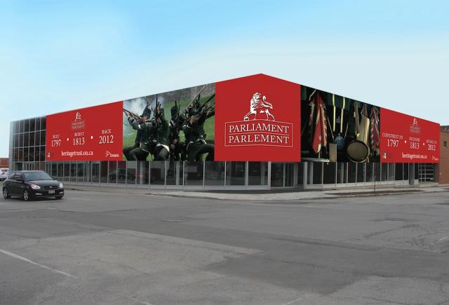 Rendering of First Parliament Building Interpretive Centre. Image courtesy of th