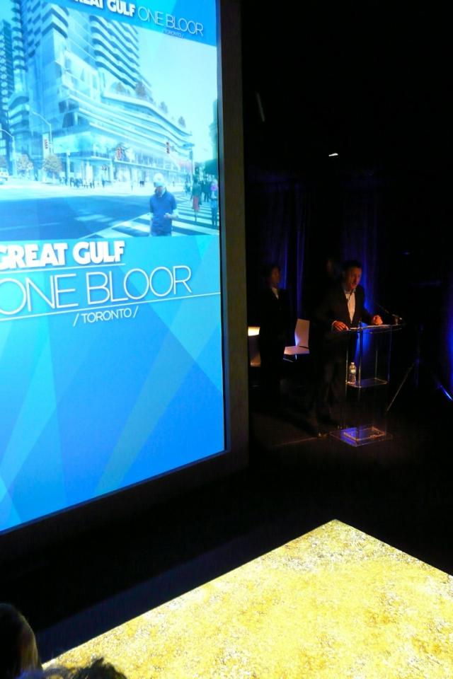 Great Gulf President David Gerofsky hosts the One Bloor Groundbreaking event