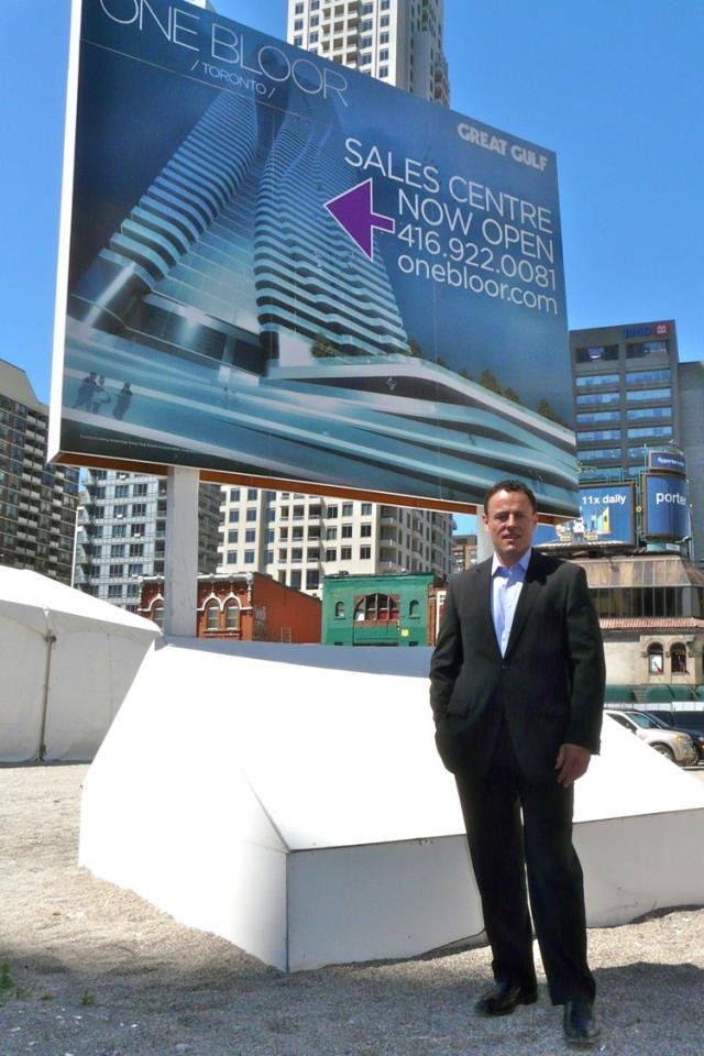 David Gerofsky, President and COO of Great Gulf Homes, at the One Bloor site