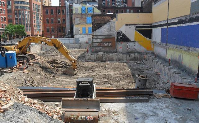 Excavation progresses for The Berczy condos by Concert Properties, Toronto