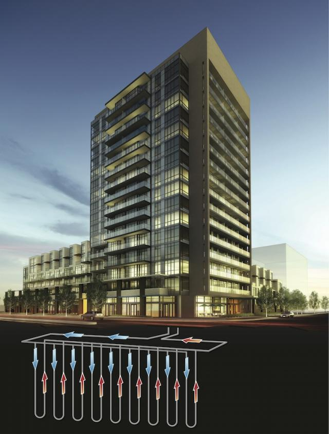 Geothermal Energy at Ironstone condos, Burlington, by Davies Smith Developments