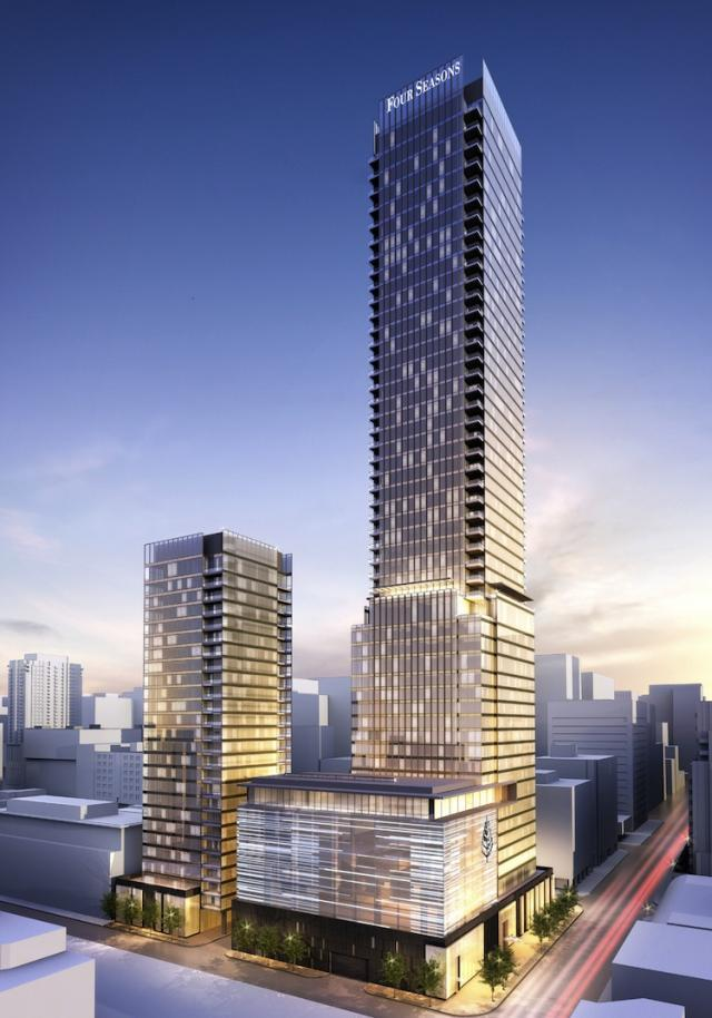 Four Seasons Hotel and Private Residences in Toronto by Menkes and Lifetime