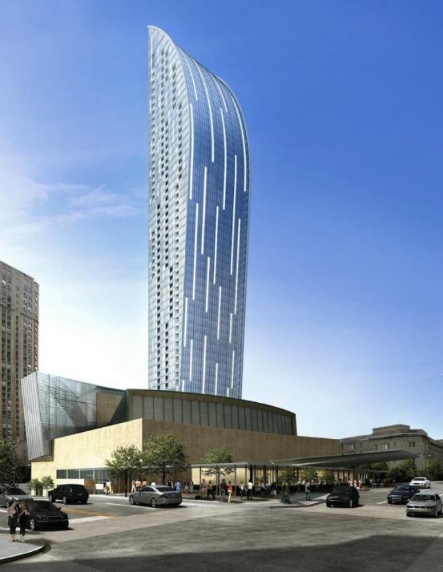 Render of L Tower. Image courtesy of Cityzen/aA.
