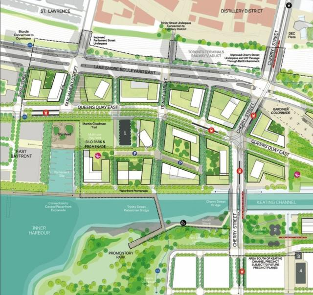 Render from Waterfront Toronto's Keating Channel Precinct Plan - May 2010.