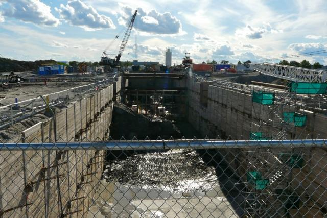 Construction well underway at Sheppard West/Downsview Park station on the Spadin