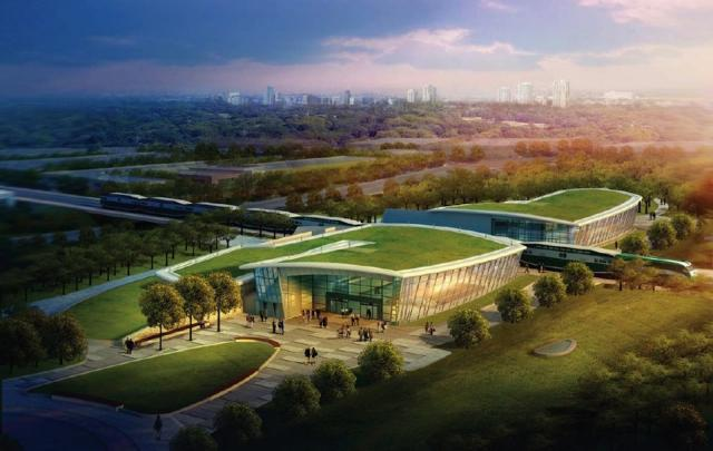 Rendering of Sheppard West/Downsview Park station on the Spadina subway extensio
