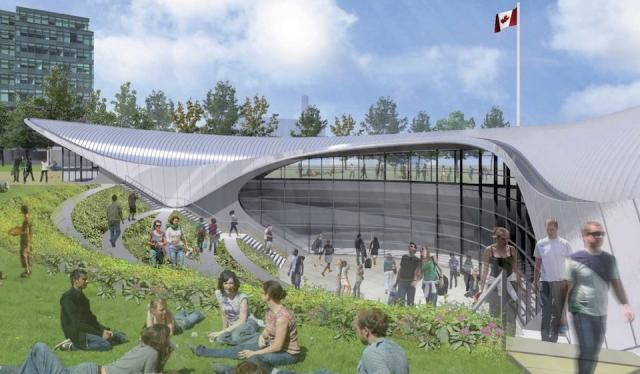 Rendering of York University station on the Spadina subway extension. Image prov