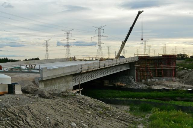 Overpass completed as part of the Highway 407 station on the Spadina subway exte